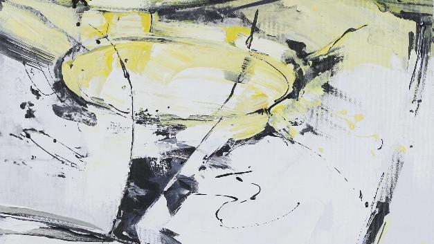 Barrow II ,acrylic 20Wx24H, Abstract Ova
