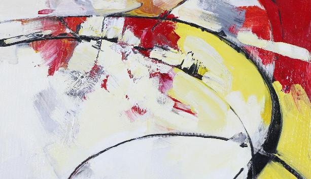 Ballas II,acrylic 20Wx24H, Abstract Oval