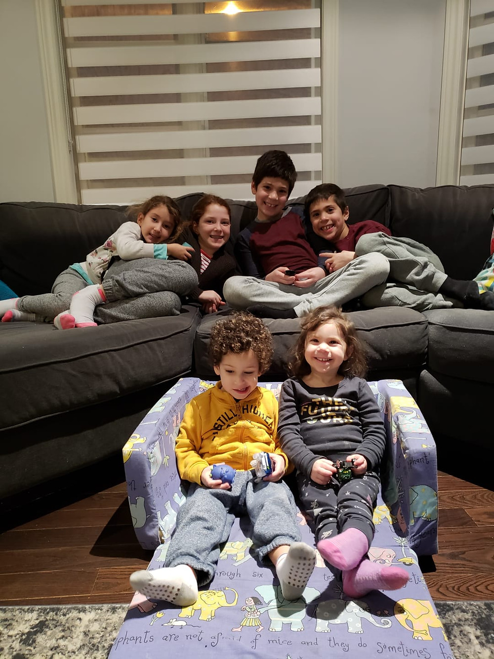 A snap of the kids before the movie!