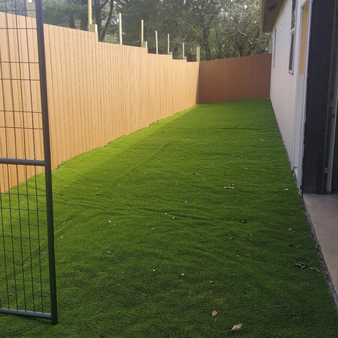 Our astroturf play yard