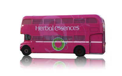 london bus, herbal essences, shampoo, procter&gamble, eventi