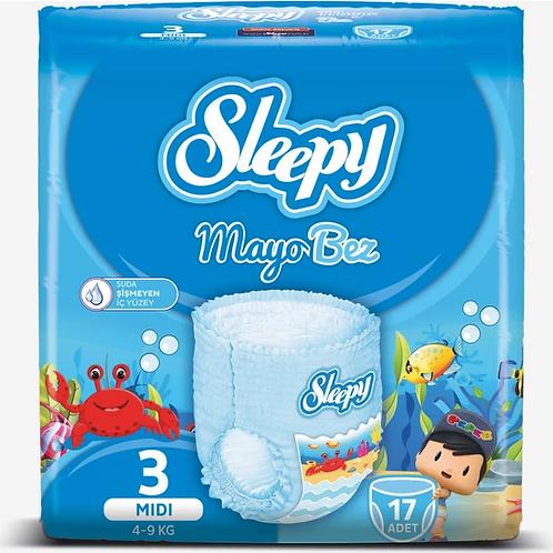 Sleepy Mayo Bebek Bezi 3 Beden 17 Adet 4 - 9 kg