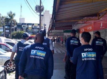 Conscientização: GDF fiscaliza uso de máscara na Feira dos Goianos