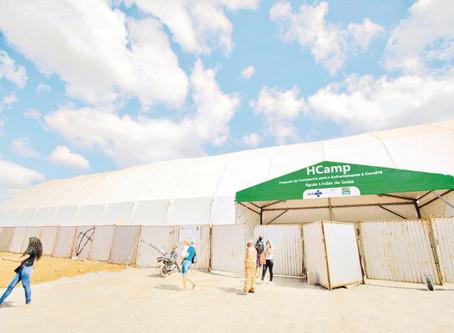 HCamp Águas Lindas contabiliza 554 internações realizadas, 279 altas, 140 óbitos e 08 transferências