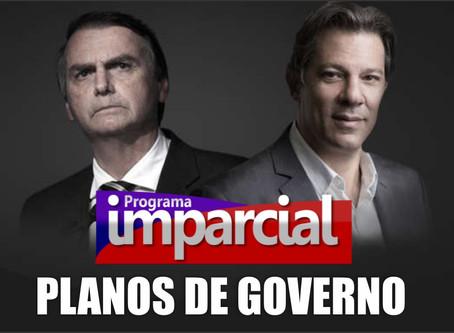 Planos de Governo de Bolsonaro e Haddad.