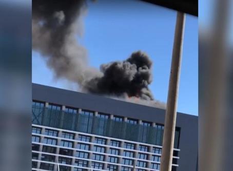 Vídeo: hospital particular pega fogo em Brasília