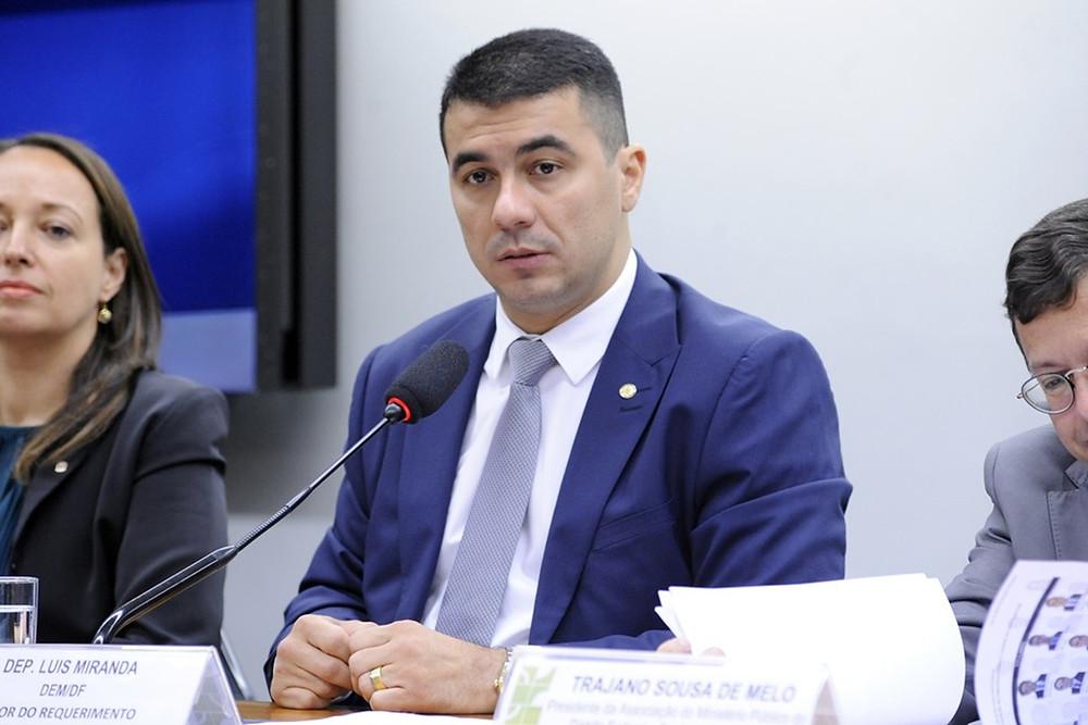Deputado federal Luis Miranda (DEM-DF), durante reunião em comissão — Foto: Cleia Viana/Câmara dos Deputados