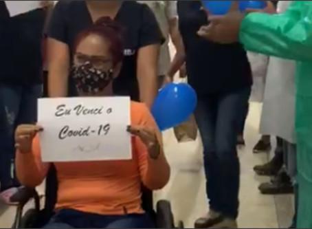 VÍDEO! Profissional da saúde de Águas Lindas recebe alta após internação de 10 dias pela Covid-19