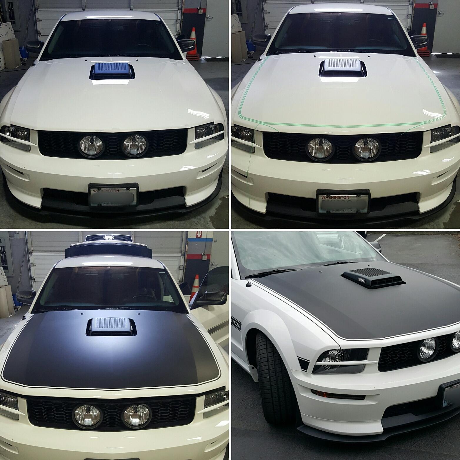 Custom Mustang Hood Wrap