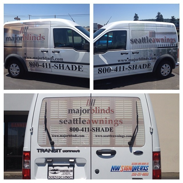 Major Blinds Ford Transit Wrap