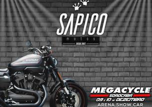 A SAPICO MOTOS ESTARÁ NO MEGACYCLE. Visite o estande de MOTOS, ACESSÓRIOS E EQUIPAMENTOS