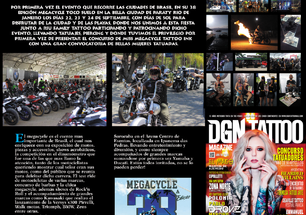 MEGACYCLE SAI EM REVISTA INTERNACIONAL DE TATTOO!