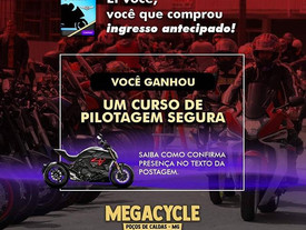 CURSO DE PILOTAGEM NO MEGACYCLE!