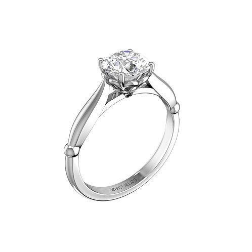 טבעת אירוסין קלאסית משובצת ביהלום 0.30 קראט-טבעת לונדון