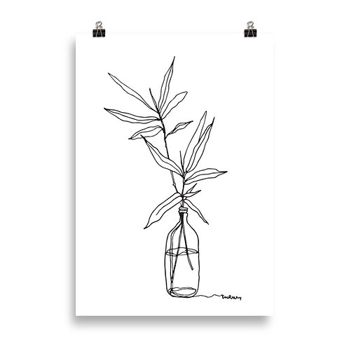 A Plant in a Glass Jar Poster