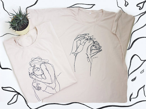 Lovers hugging T-shirt