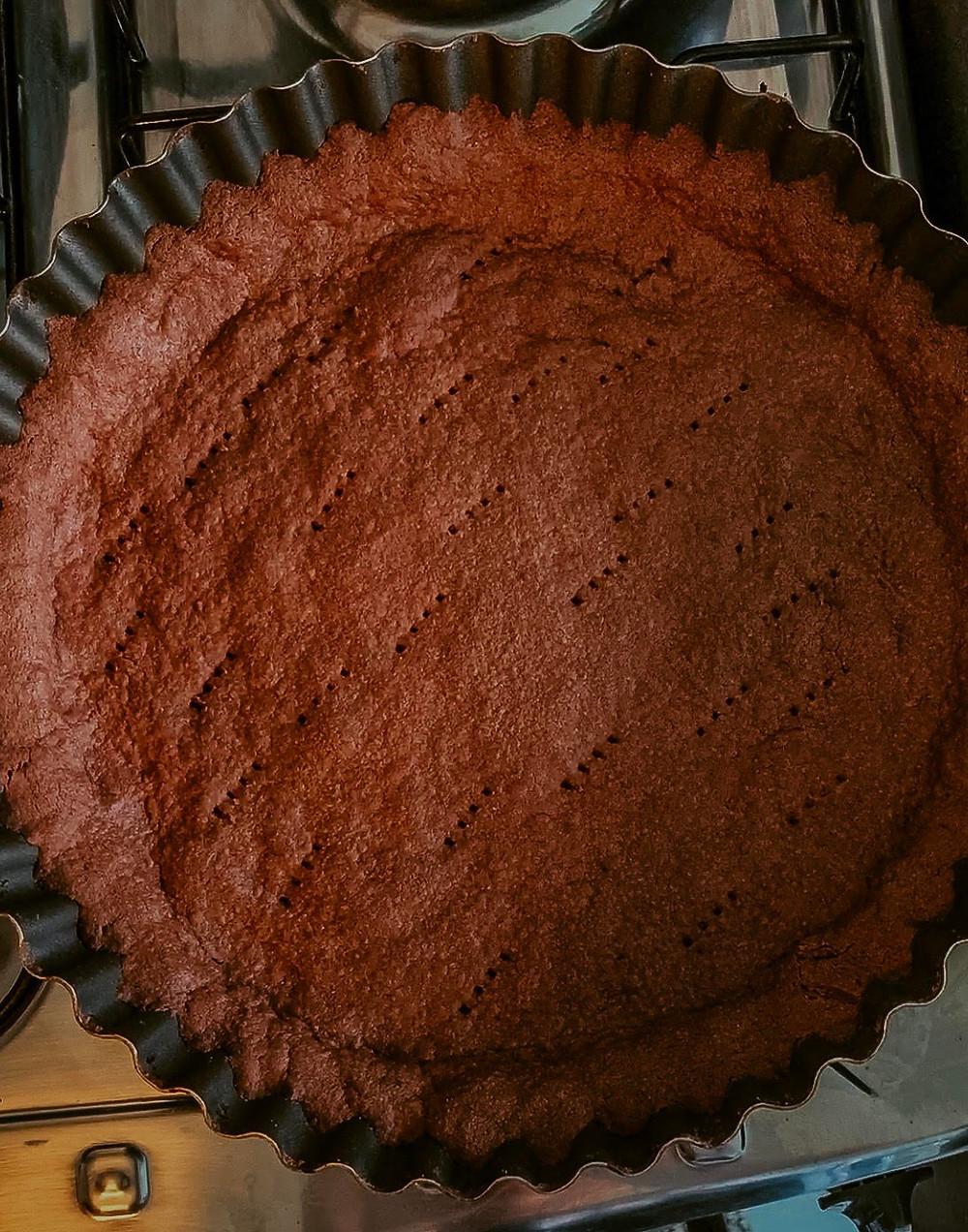 Base de torta de chocolate