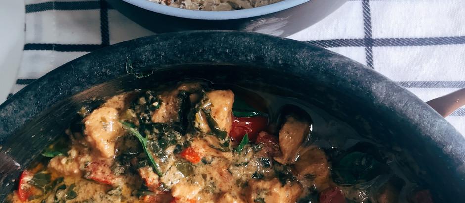 Receita: Green Curry com arroz de coco