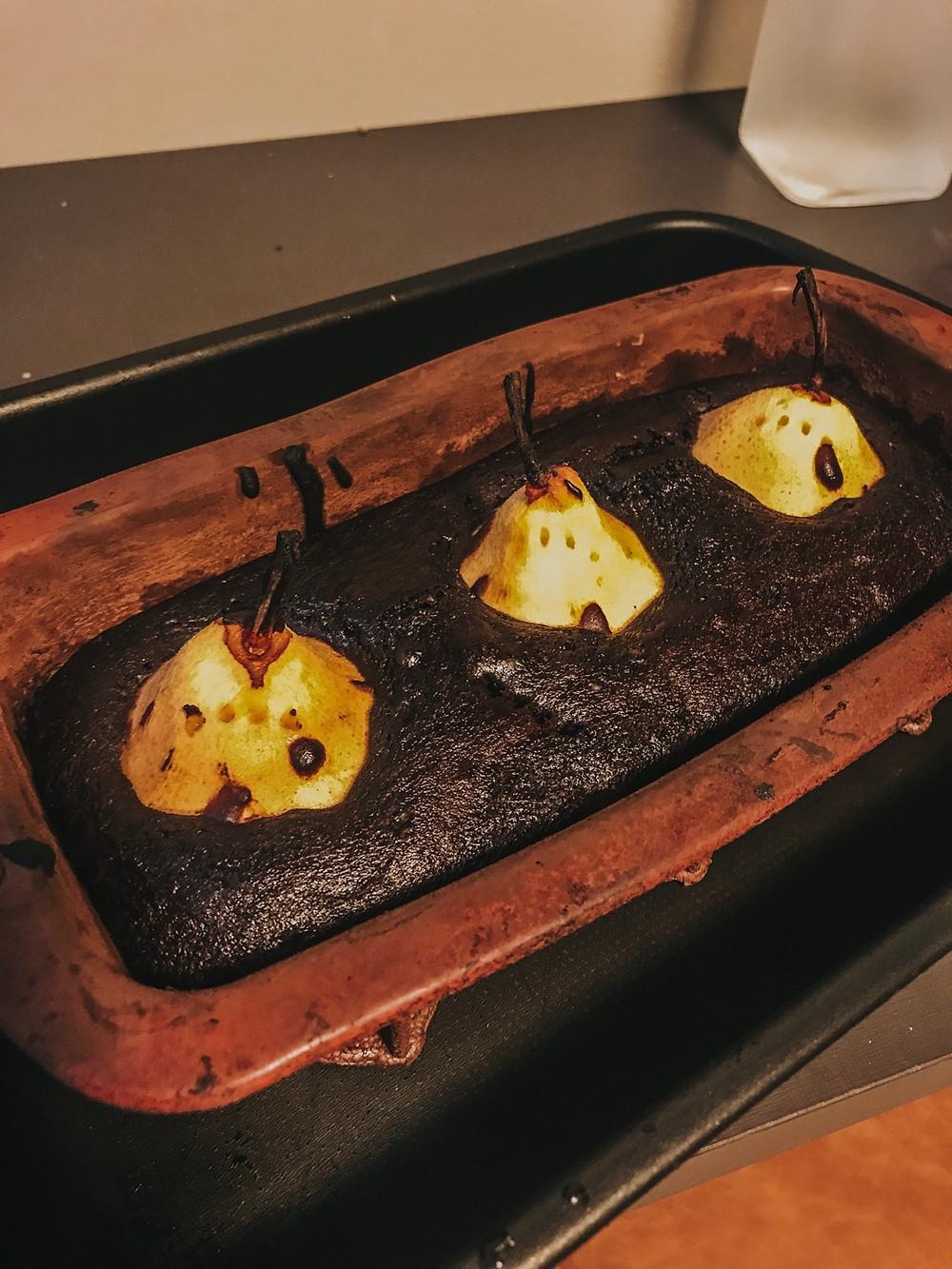 Receita: bolo de chocolate com pêras (vegano)