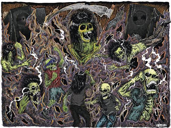 """Print Limitado """"The Last Pit"""" de Luís Felipe Voideath"""