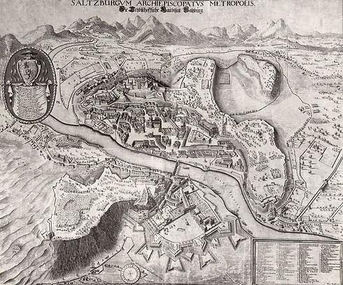 Plan von Salzburg von Philipp Harpff aus