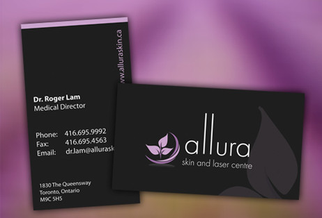 Spa Clinic Business Card Design