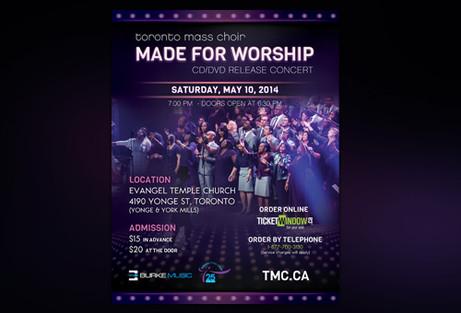 Choir Event Flyer Design