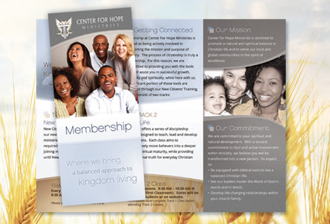 Church Brochure Design