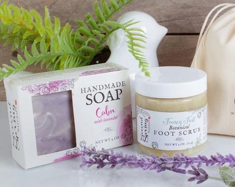Soap Box and Foot Scrub Label Design