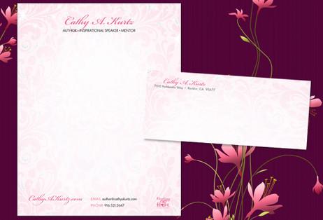 Author Pink Letterhead Design