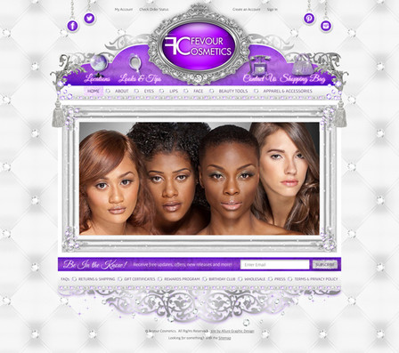 Beauty Products Online Store Website Design