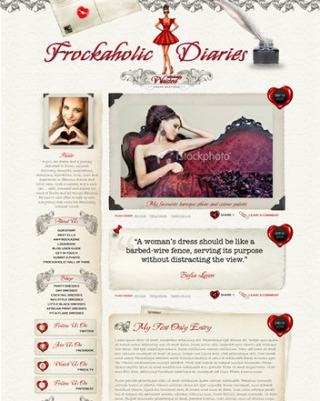 Fashion Blog Website Design