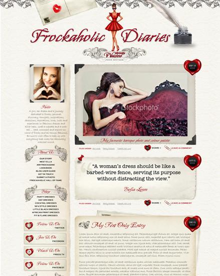 Fashion Blog Website Design