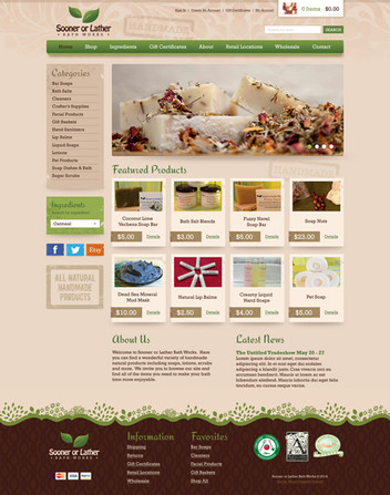 Homemade Soaps Online Store Website Design