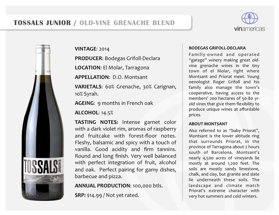 TOSSALS JUNIOR | OLD-VINE GRENACHE BLEND