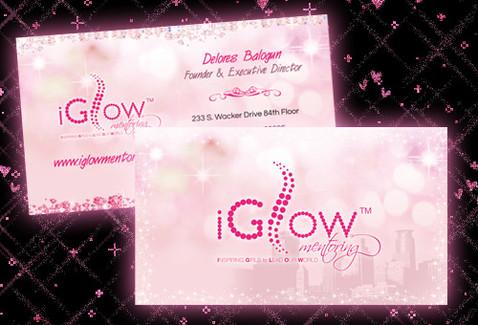 Girls Mentoring Business Card Design