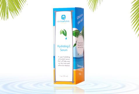 Tropical Skincare Product Box Design