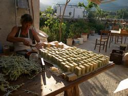 Janina soap making