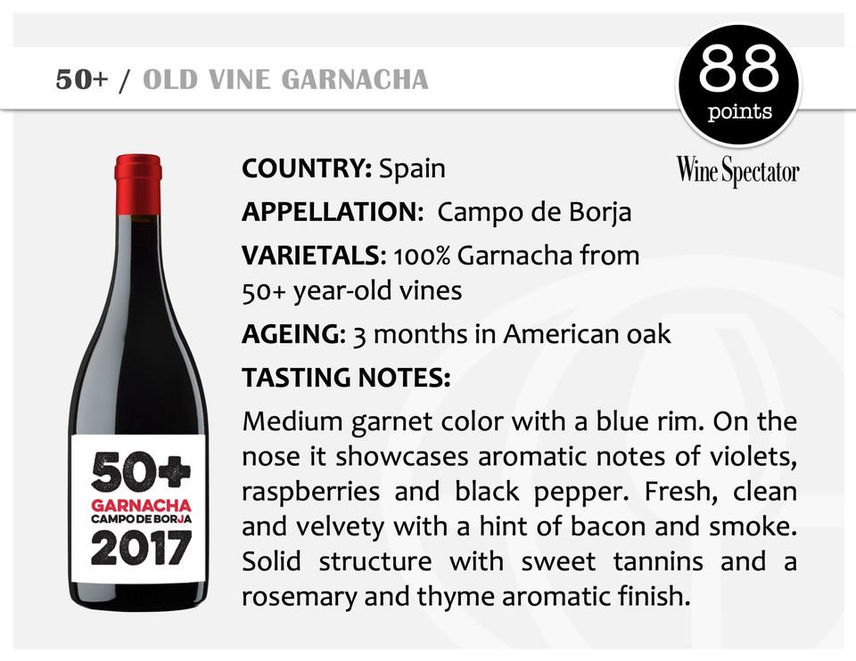 50+ | OLD VINE GARNACHA