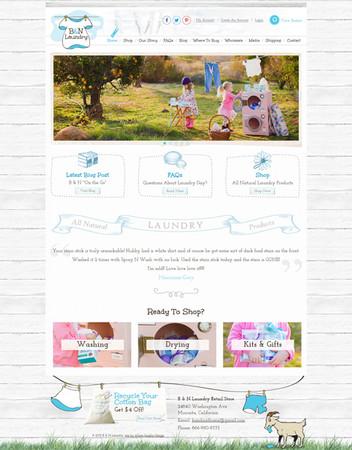 Homemade Laundry Soap Online Store Website Design