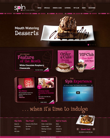 Dessert Cafe Website Design