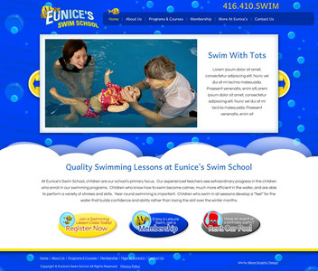 Swim School Website Design