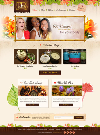 Spa Products Online Store Website Design