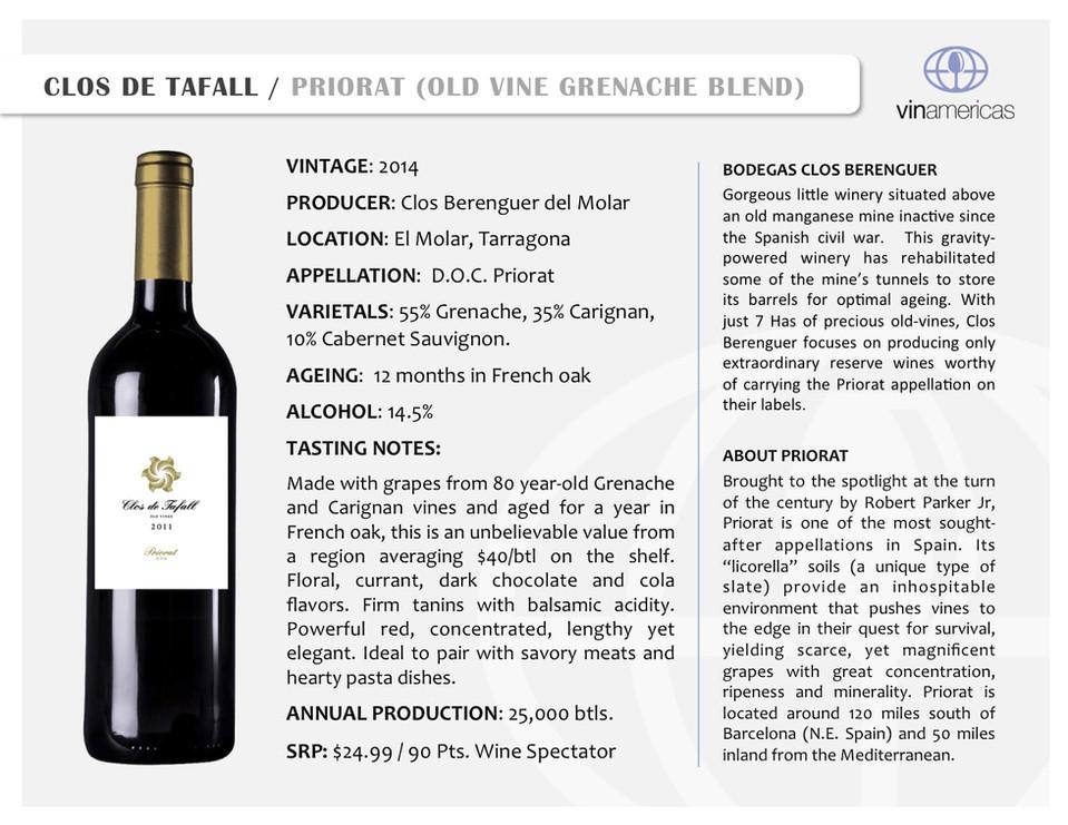 CLOS DE TAFALL | PRIORAT (OLD VINE GRENACHE BLEND)