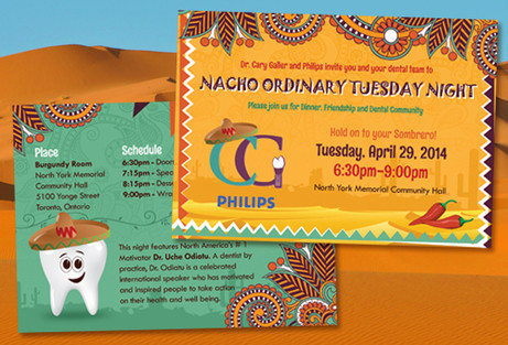 Mexican Themed Event Postcard Design