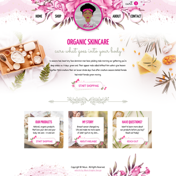 Organic Skincare Website
