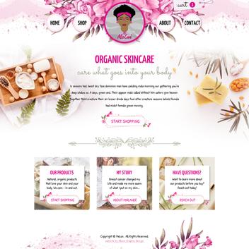 Organic Skincare Website