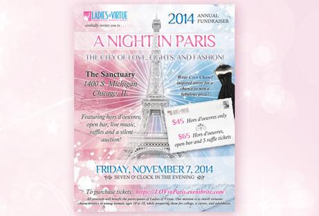 Paris Theme Event Flyer Design