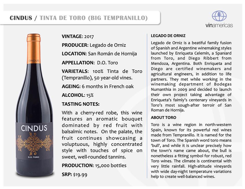 CINDUS | TINTA DE TORO