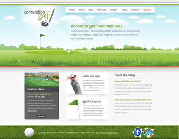 Golf Courses Website Design